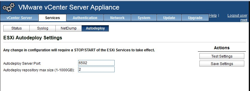 Vsphere Auto Deploy Image Profile And Booting Esxi