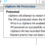 vSphere HA Protection: Protected? or Not?
