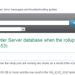vCenter Server Database Upgrade Hangs